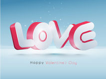 3D text for Happy Valentines Day celebration. Stock Image