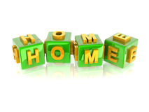 3d text HOME Royalty Free Stock Photo