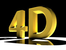 4D Text Stock Image