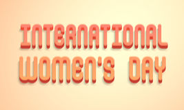 3D text for International Womens Day celebration. Royalty Free Stock Image