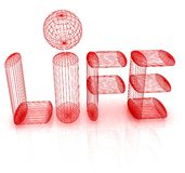 3d text life Stock Images