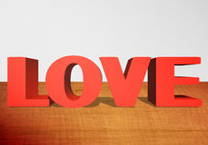 3D Text LOVE stock illustration
