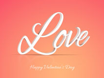 3D text Love for Valentine's Day. Stock Photography