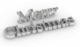 3d text of Merry Christmas Royalty Free Stock Photography