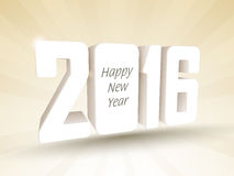 3D text 2016 for New Year celebration. Stock Image