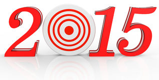 3d 2015 text new year concept. With target Stock Photography
