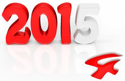 3d 2015 text new year concept. On white background Royalty Free Stock Photo