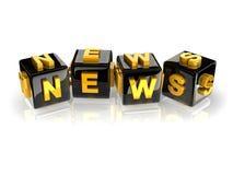 3d text NEWS Royalty Free Stock Photo