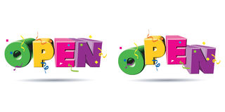3d text open stock illustration
