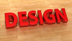 3d text design Royalty Free Stock Photography