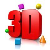 3D Text Stock Photos