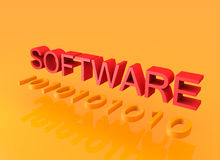 3D text software programming concept Stock Photos