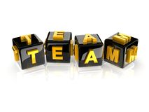 3d text TEAM Stock Images