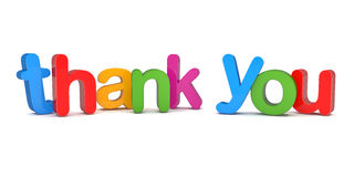 3d text - thank you Royalty Free Stock Images