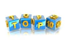 3d Text TOP10 Lizenzfreies Stockfoto
