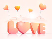 3D Text for Valentine`s Day celebration. Royalty Free Stock Photo
