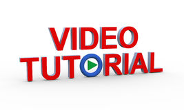 3d text video tutorial Stock Photo