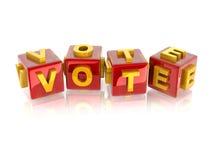 3d text VOTE Stock Image