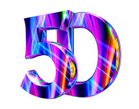 5d text on white background. 3d rendering. 5d text on white background Royalty Free Illustration