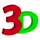 3D text  on white background Stock Photography