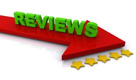 Reviews text concept Royalty Free Stock Photos