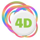 4D Colorful Abstract Rings. 4D text written over colorful background Royalty Free Stock Photos