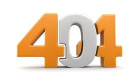 3d texto 404 Imágenes de archivo libres de regalías