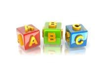 3d texto ABC Foto de Stock