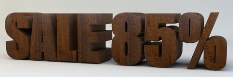 3d texto, venda 85 por cento Imagem de Stock Royalty Free