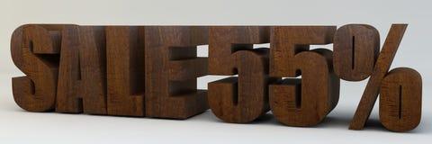 3d texto, venda 55 por cento Foto de Stock