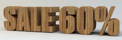 3d texto, venda 60 por cento Fotografia de Stock