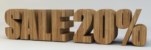 3d texto, venda 20 por cento Imagens de Stock Royalty Free