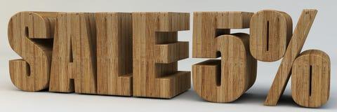3d texto, venda 5 por cento Imagem de Stock Royalty Free