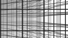 3D texture. Black and white background in a cage for banners and layouts. Volumetric background with bokeh effect. Background of intersecting gray lines. White Stock Photography