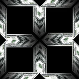 3D   texture of dollars Stock Photo