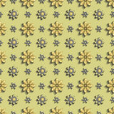3D texture gold flowers. Hue metal yellow, golden. Stock Image