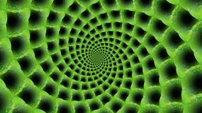 3D texture. Green spiral tunnel. 3D texture. Wallpapers for your desktop. Green spiral tunnel Royalty Free Stock Image