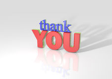 3D Thank you Stock Photo