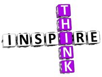 3D Think Inspire Crossword. Over white background Royalty Free Stock Photo