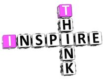 3D Think Inspire Crossword. On white background Royalty Free Stock Images