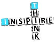 3D Think Inspire Crossword. On white background Royalty Free Stock Image