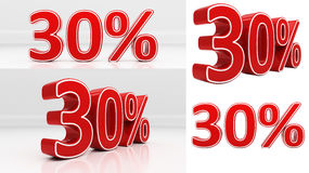 3D thirty percent Royalty Free Stock Photography