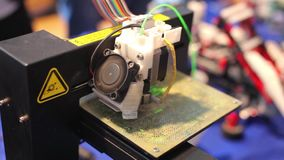 3D - Three dimensional printing machine stock video footage