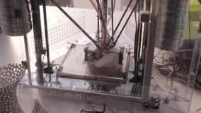 3D - Three dimensional printing machine stock video