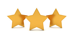 3D three gold stars Stock Images