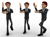 3d three men dancing in rythem concept Royalty Free Stock Photo