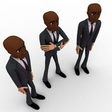 3d three men team standing with proud concept Stock Image