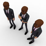 3d three men team standing with proud concept Royalty Free Stock Images