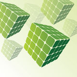 3D Three Sided Cubes. 3D Transparent Cubes Design - Vector Background Royalty Free Stock Photography