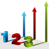 3d Three Step Arrows Royalty Free Stock Photography